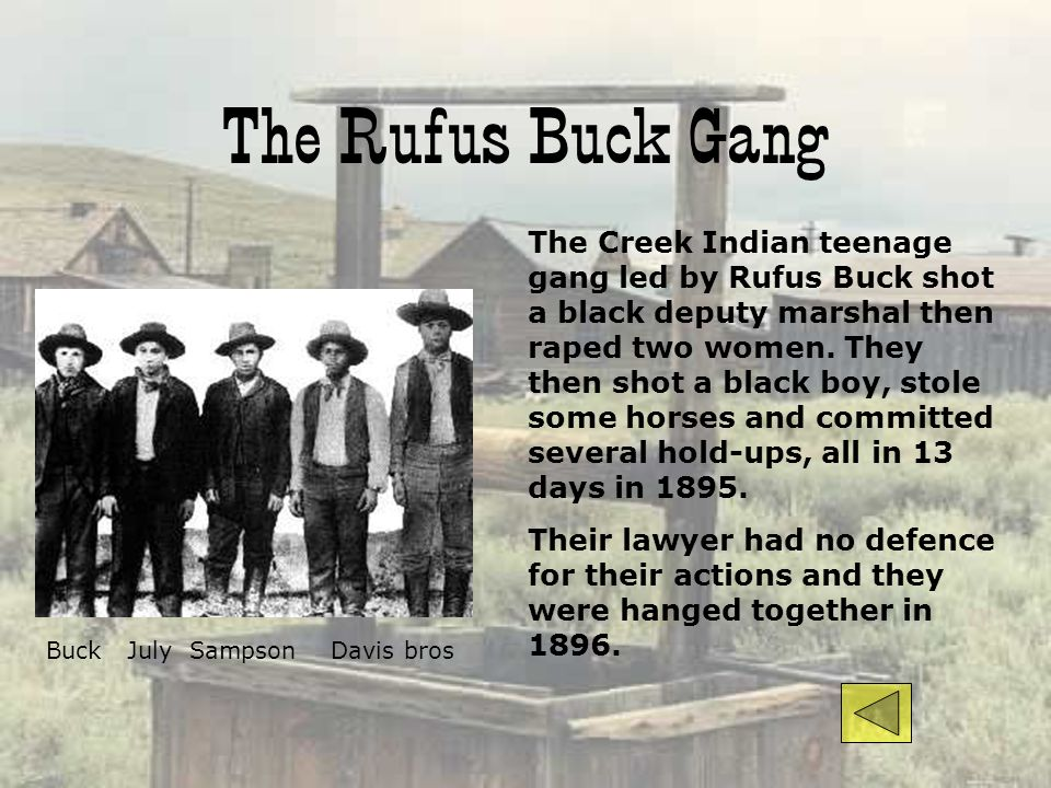 The Rufus Buck Gang