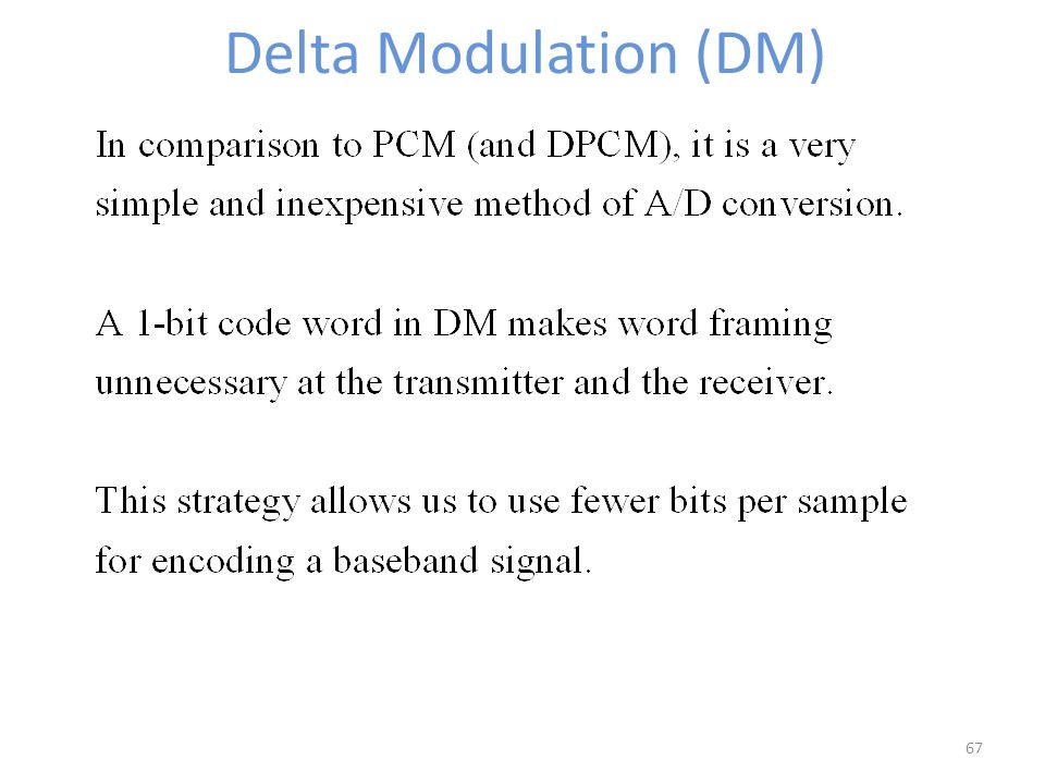 delta modulation transmitter and receiver pdf