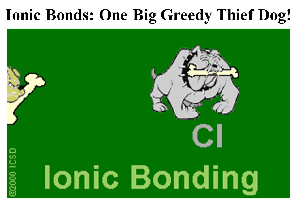 Ionic Bonds: One Big Greedy Thief Dog!