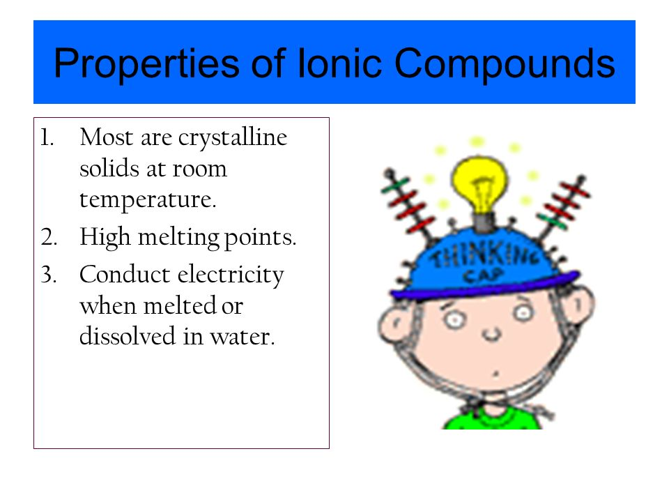 Properties of Ionic Compounds