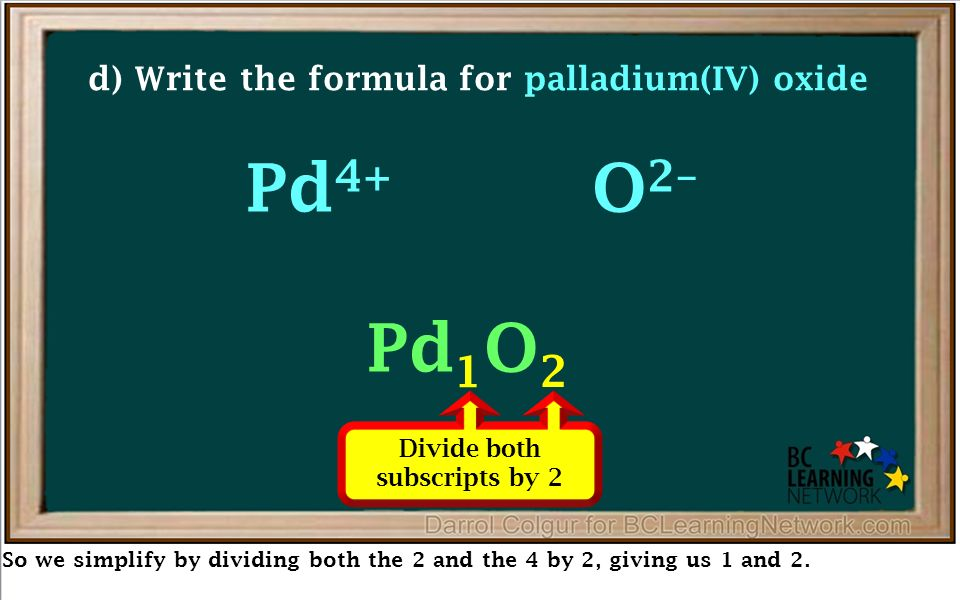 Writing Formulas Using The Crossover Method Examples Ppt Download