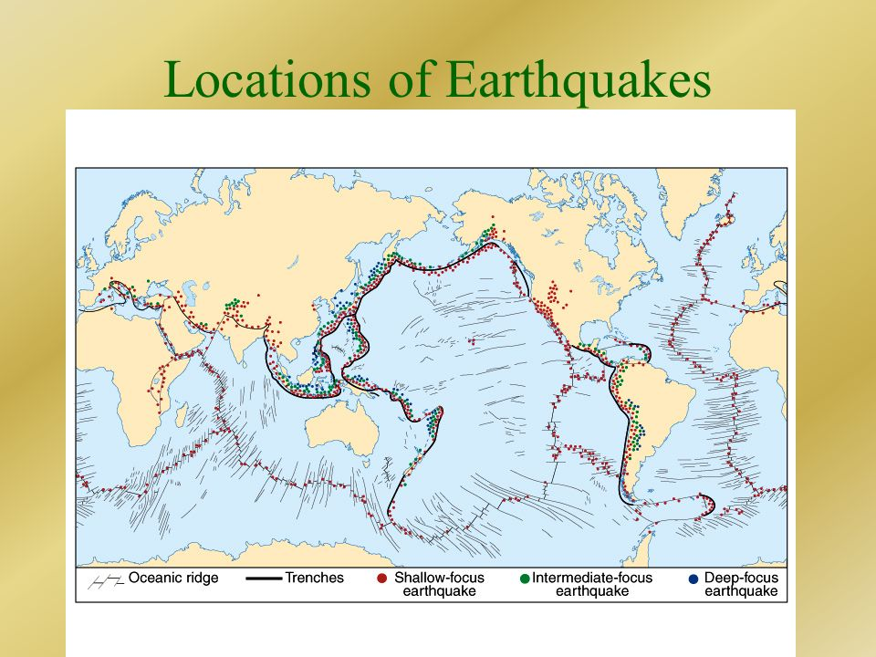 Locations of Earthquakes