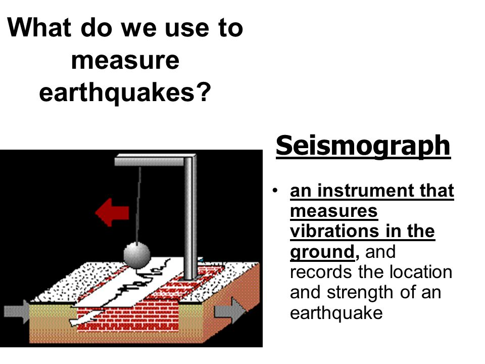What do we use to measure earthquakes