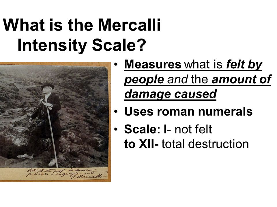 What is the Mercalli Intensity Scale