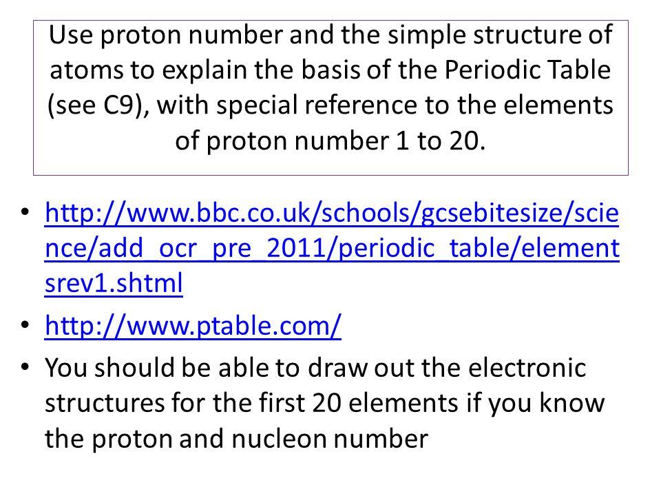Atomic structure and the periodic table modul03aiii ppt video use proton number and the simple structure of atoms to explain the basis of the periodic urtaz Gallery