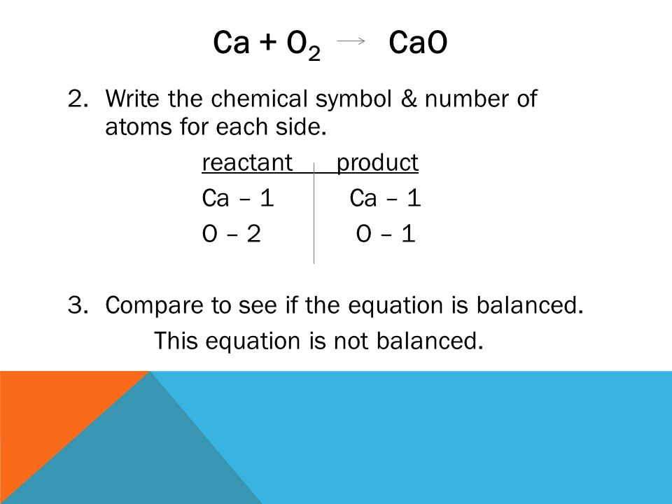 Sec2 Chemical Formulas Equations Ppt Video Online Download