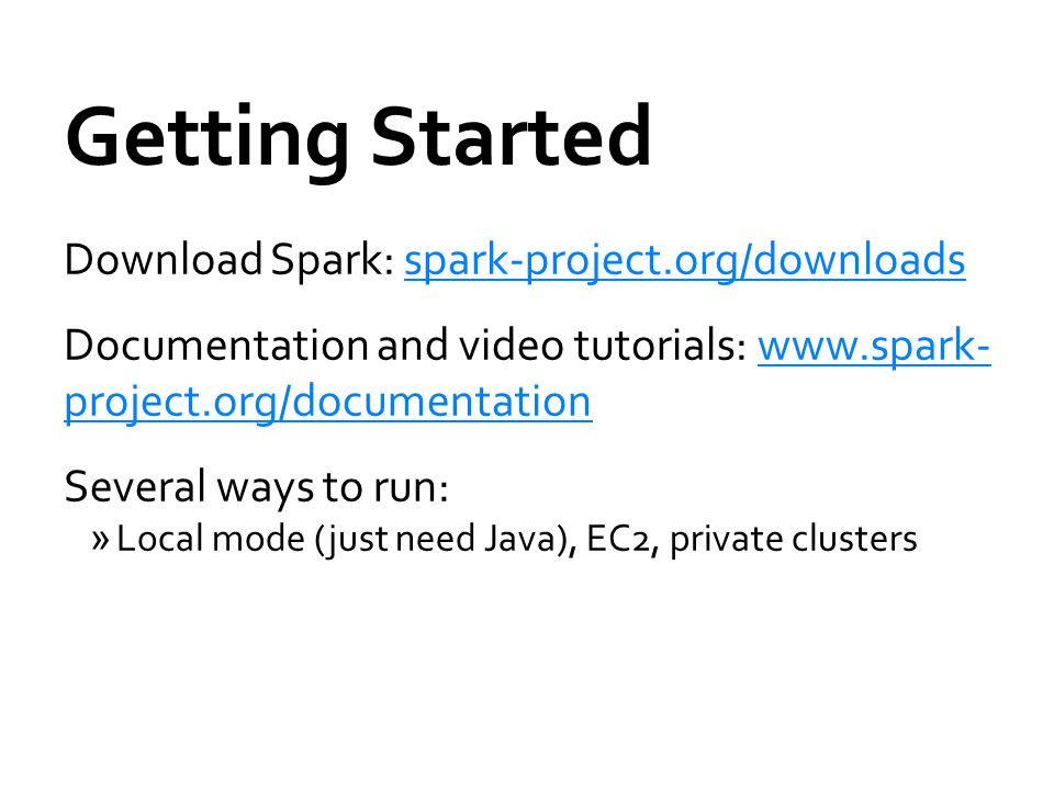 Spark Documentation