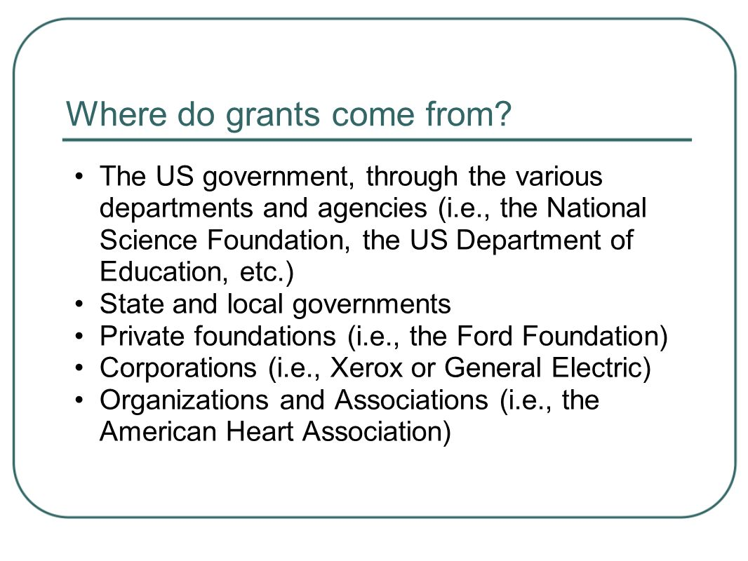 Grants 101: Getting Started in Grantseeking and Grantwriting - ppt