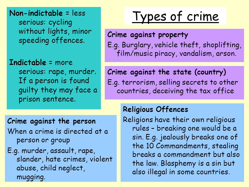 crime and punishment in different countries