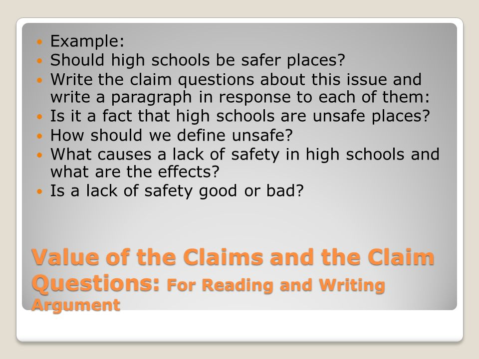 Types Of Claims Establishing Purpose And Organization Ppt Video