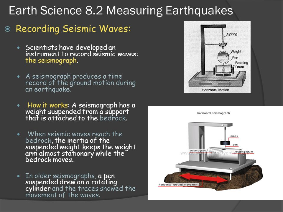 Earth Science 8.2 Measuring Earthquakes