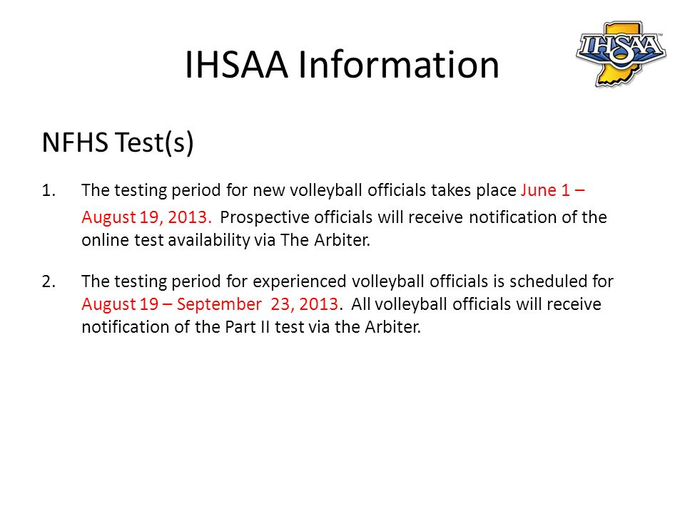 Rules changes major editorial changes points of emphasis ppt download ihsaa information nfhs tests fandeluxe Image collections
