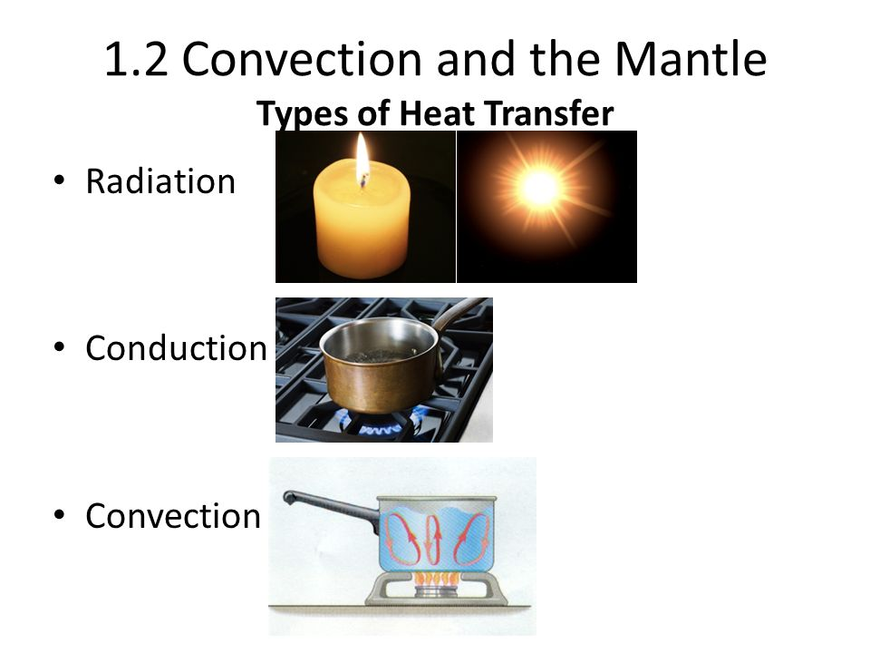 1.2 Convection and the Mantle Types of Heat Transfer