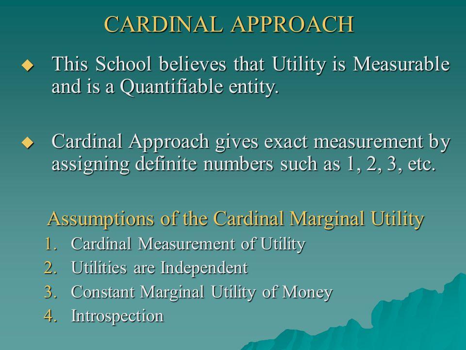 constant marginal utility of money