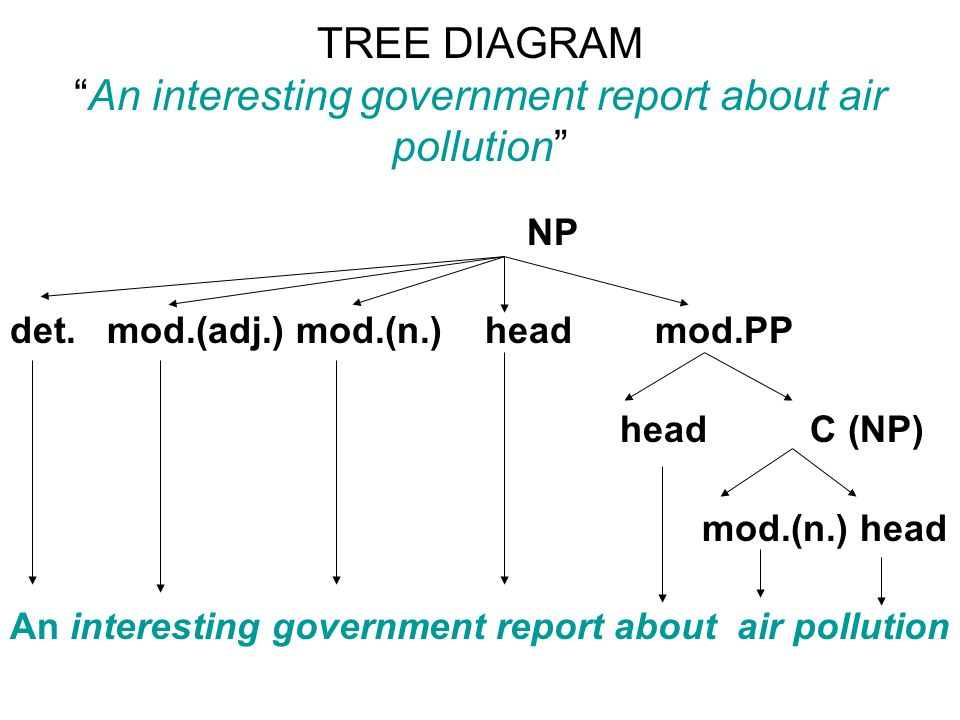 Tree diagram of environmental pollution diy wiring diagrams chapter 3 the grammar of english ppt video online download rh slideplayer com land pollution diagram air pollution in the us ccuart Images