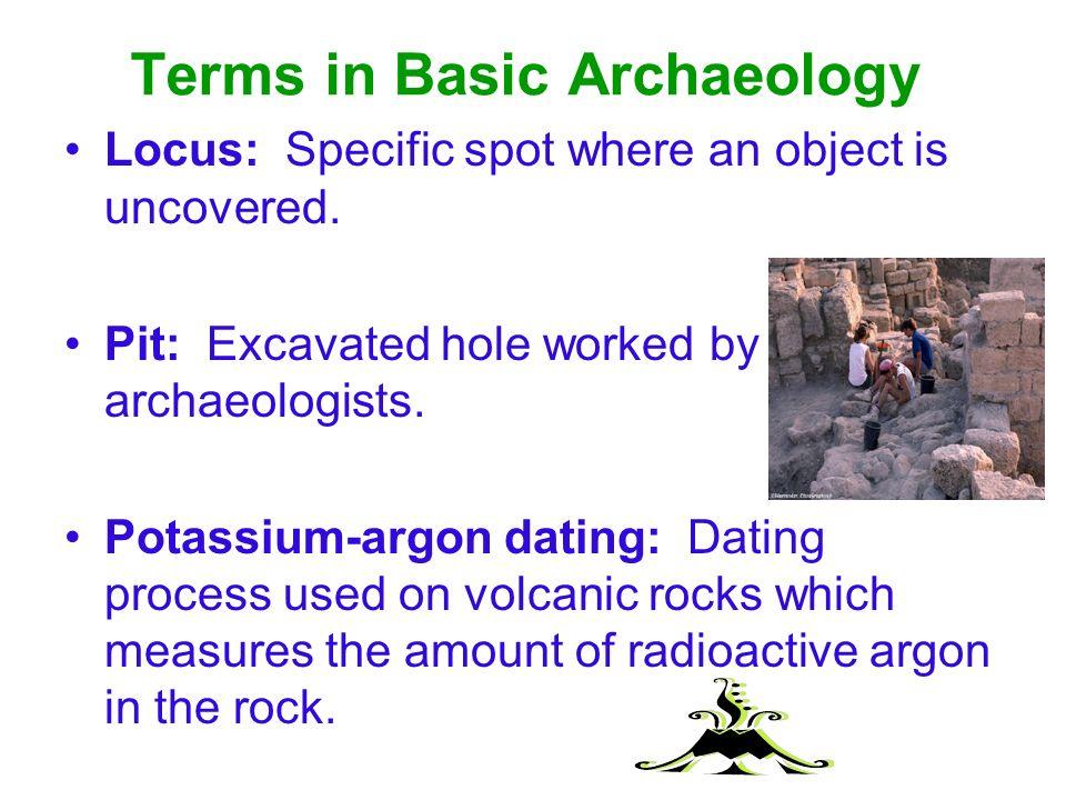 define potassium-argon dating in archaeology