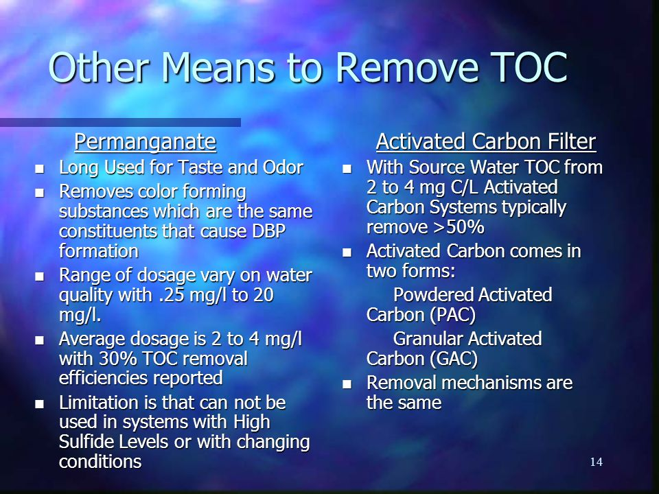 Other Means to Remove TOC