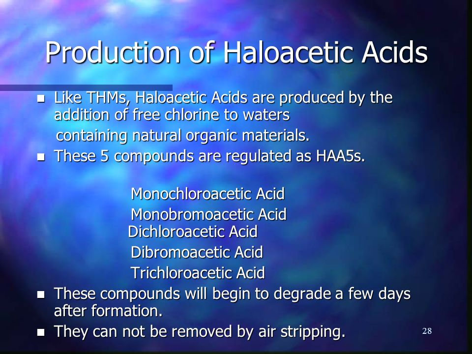Production of Haloacetic Acids