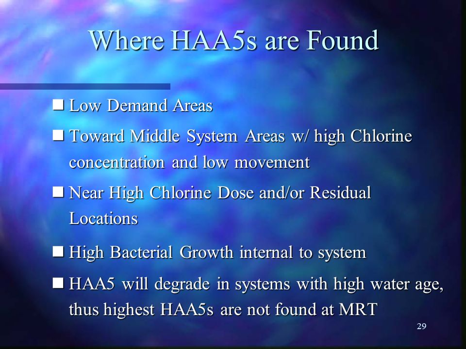 Where HAA5s are Found Low Demand Areas