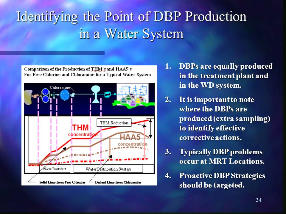 Identifying the Point of DBP Production in a Water System