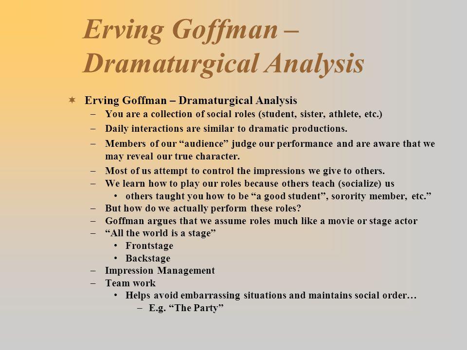 dramaturgical analysis