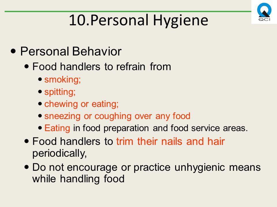 hygienic and unhygienic food