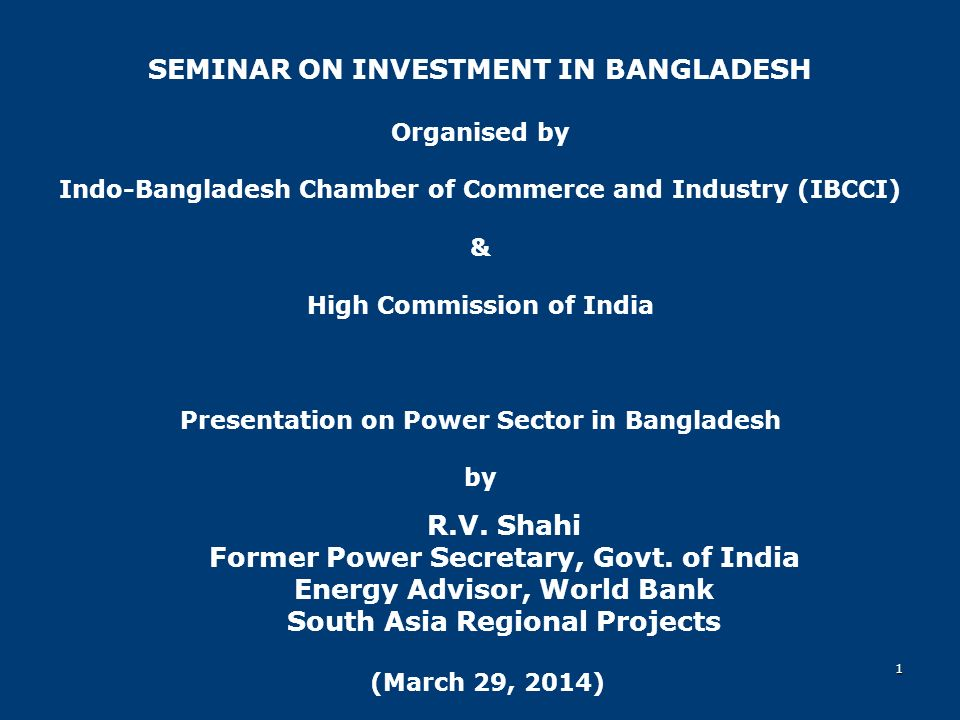 SEMINAR ON INVESTMENT IN BANGLADESH - ppt download