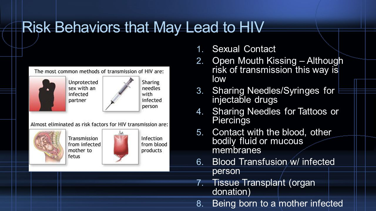 Risk Behaviors that May Lead to HIV