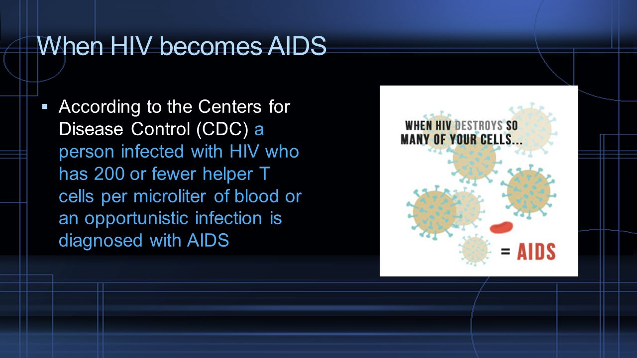 When HIV becomes AIDS