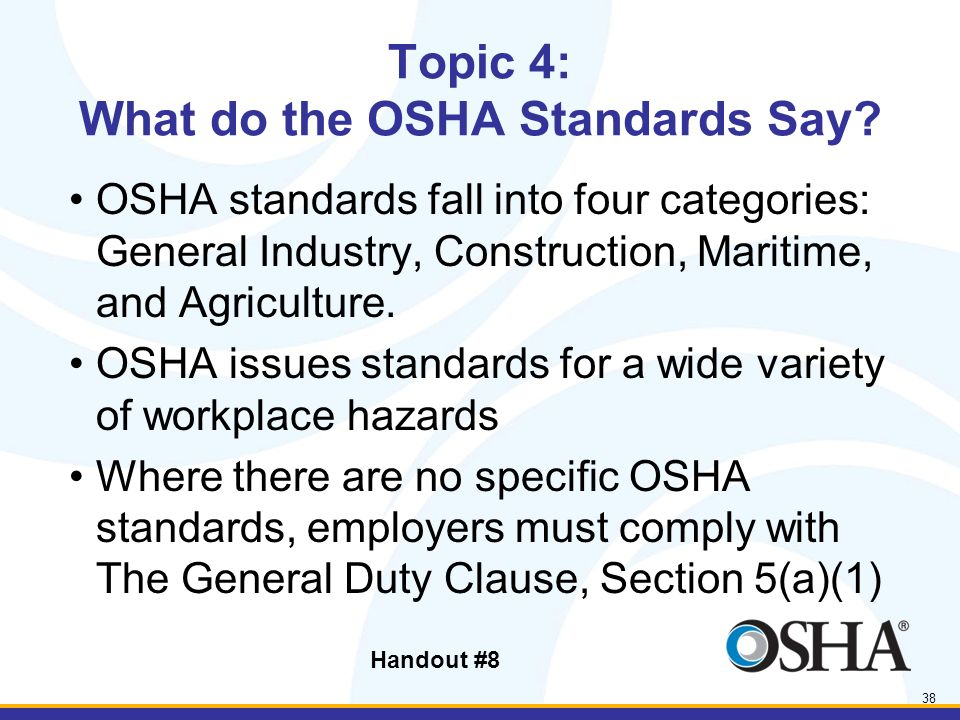 Introduction to OSHA 2-hour Lesson Handout #2 INTRODUCTION TO OSHA