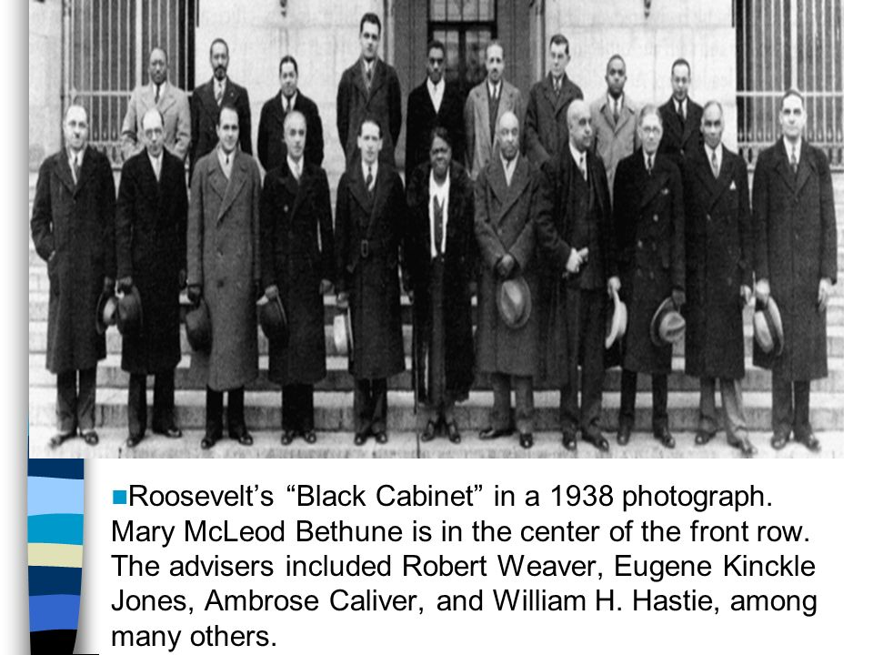 roosevelts black cabinet black protest the great depression and the new deal ppt 163