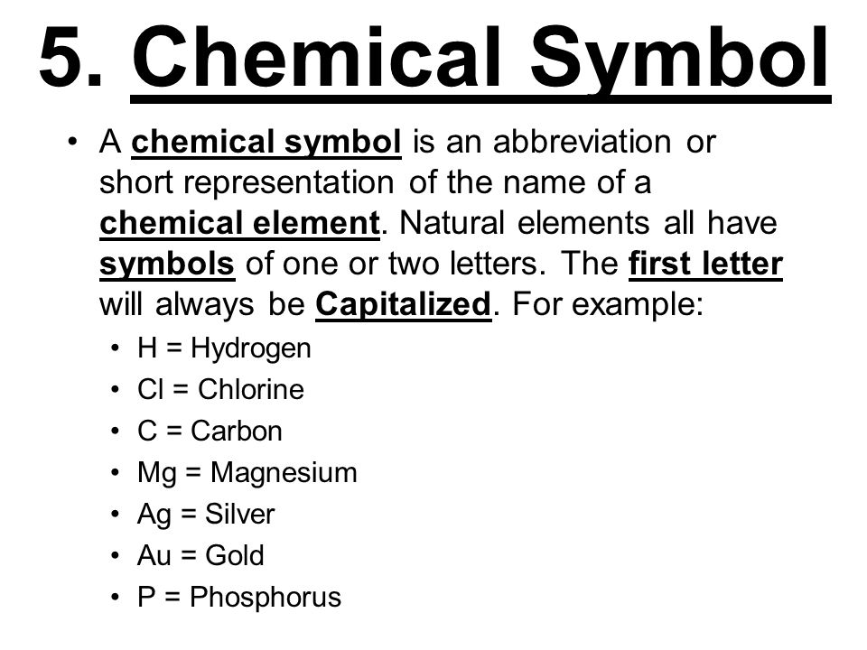 Examples Of Chemical Symbols Image Collections Free Symbol Design