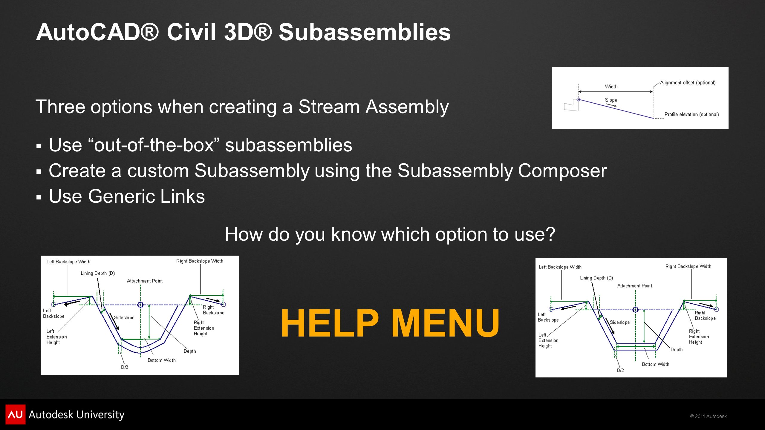 3-in-1 Stream Restoration Using AutoCAD® Civil 3D®, Map 3D, and