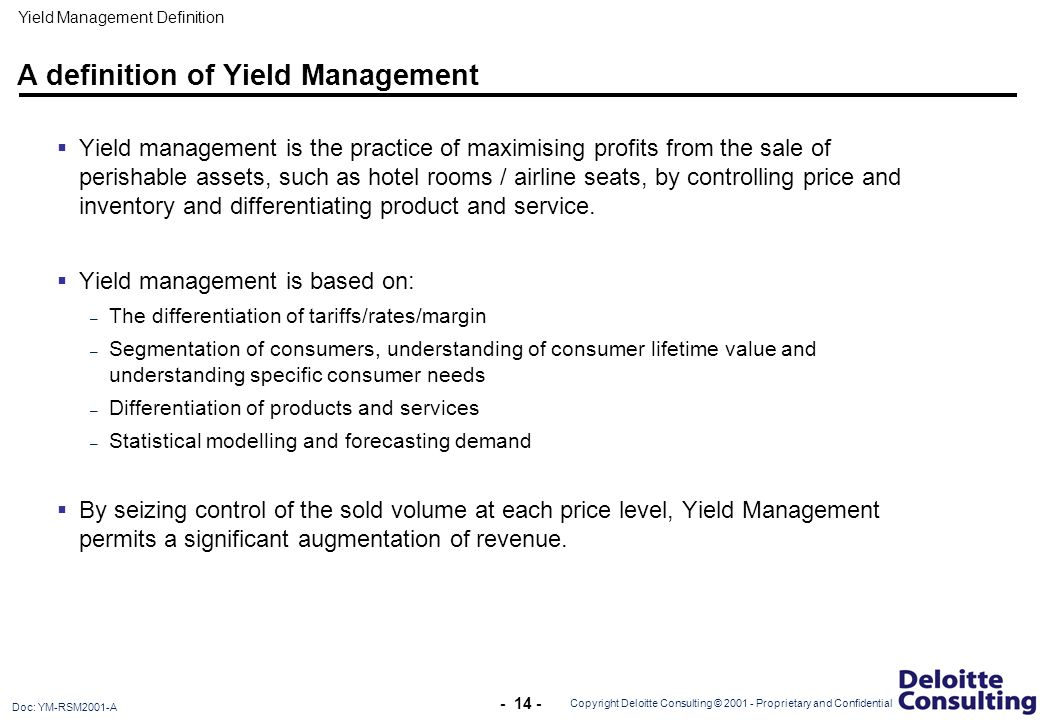 Revenue management in the Hotel and Leisure Industry - ppt
