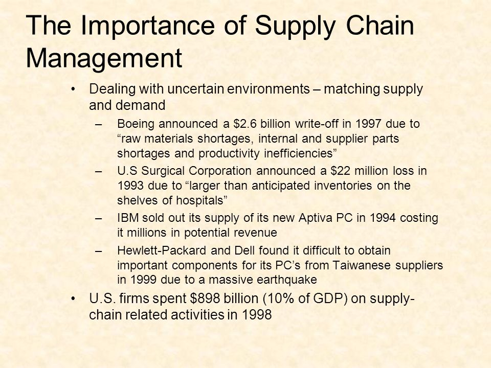 MEV 425 Supply Chain Management - ppt download