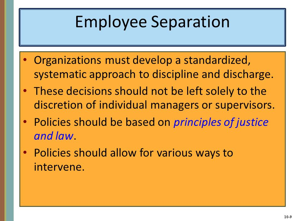 CHAPTER 10 Separating and Retaining Employees - ppt download
