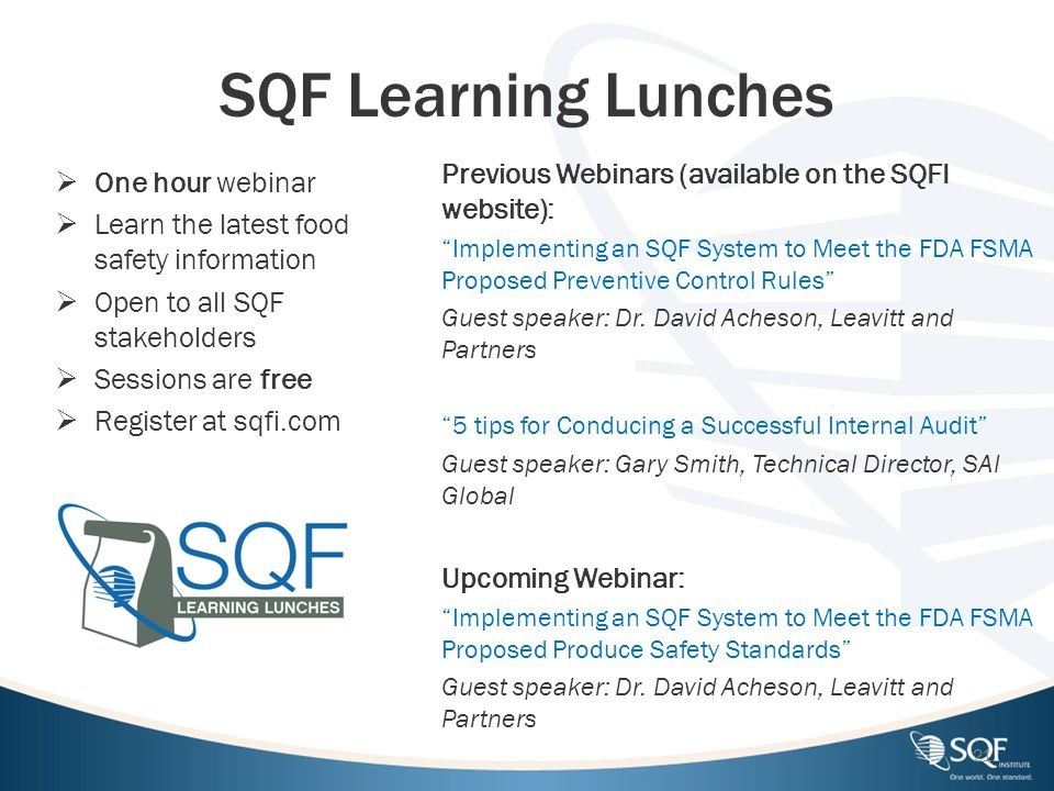 SQF Certification Body Meeting - ppt download