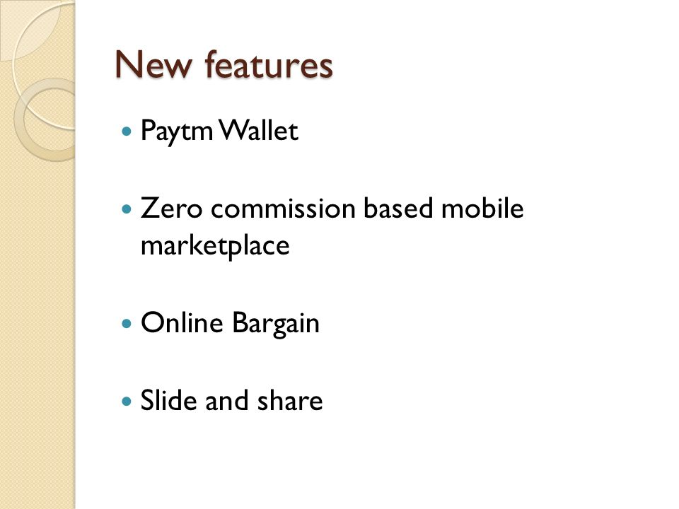 New features Paytm Wallet Zero commission based mobile marketplace