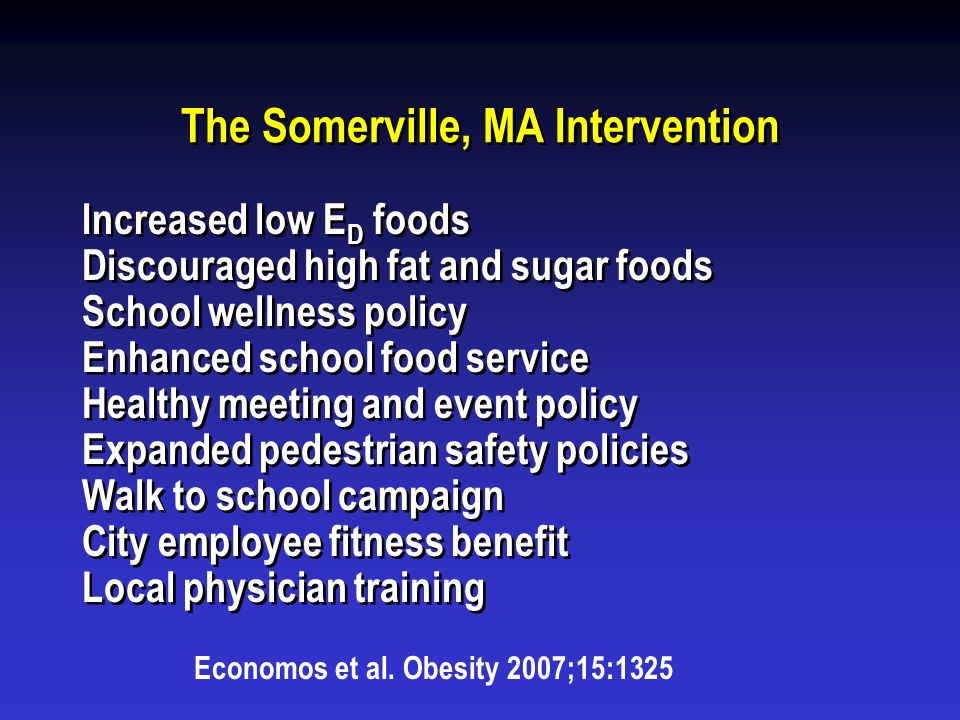The Somerville, MA Intervention