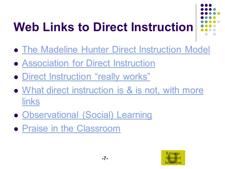 Models Of Instruction Interactive Powerpoint Ppt Video Online Download