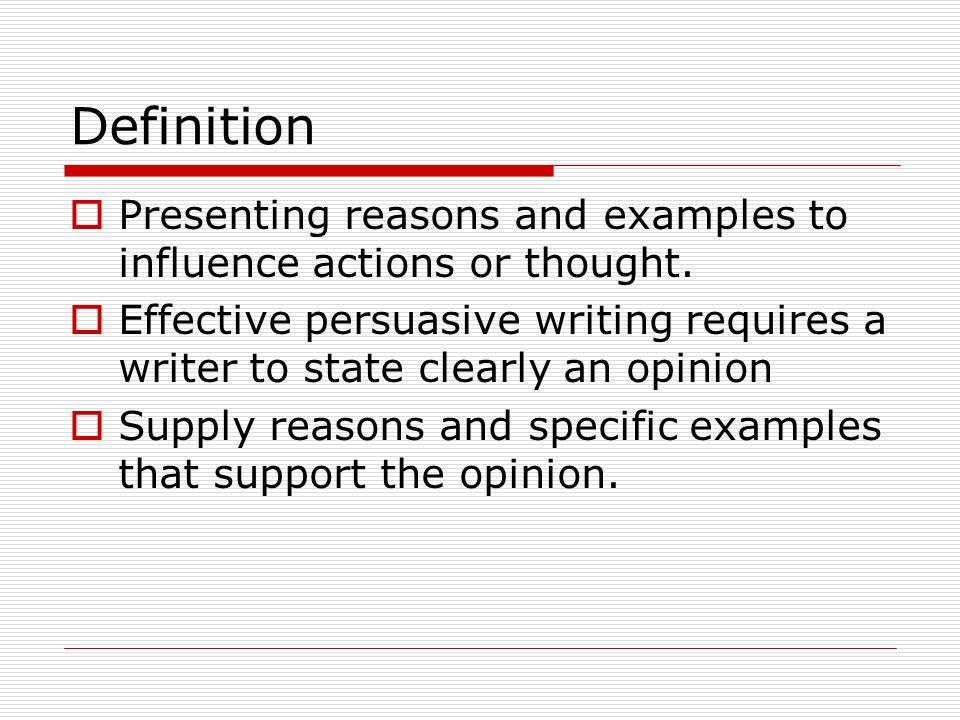 effective persuasion definition