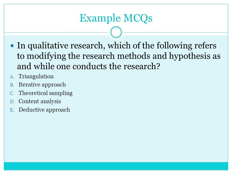 Mcq On Research Hypothesis