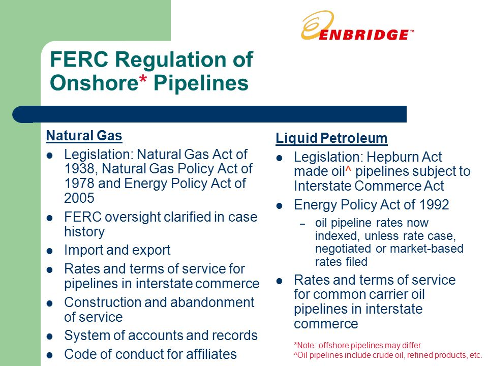 Regulation On Natural Gas Pipeline