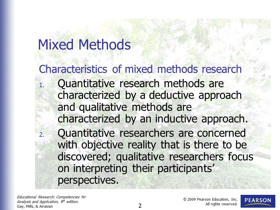 characteristics of qualitative research and quantitative research
