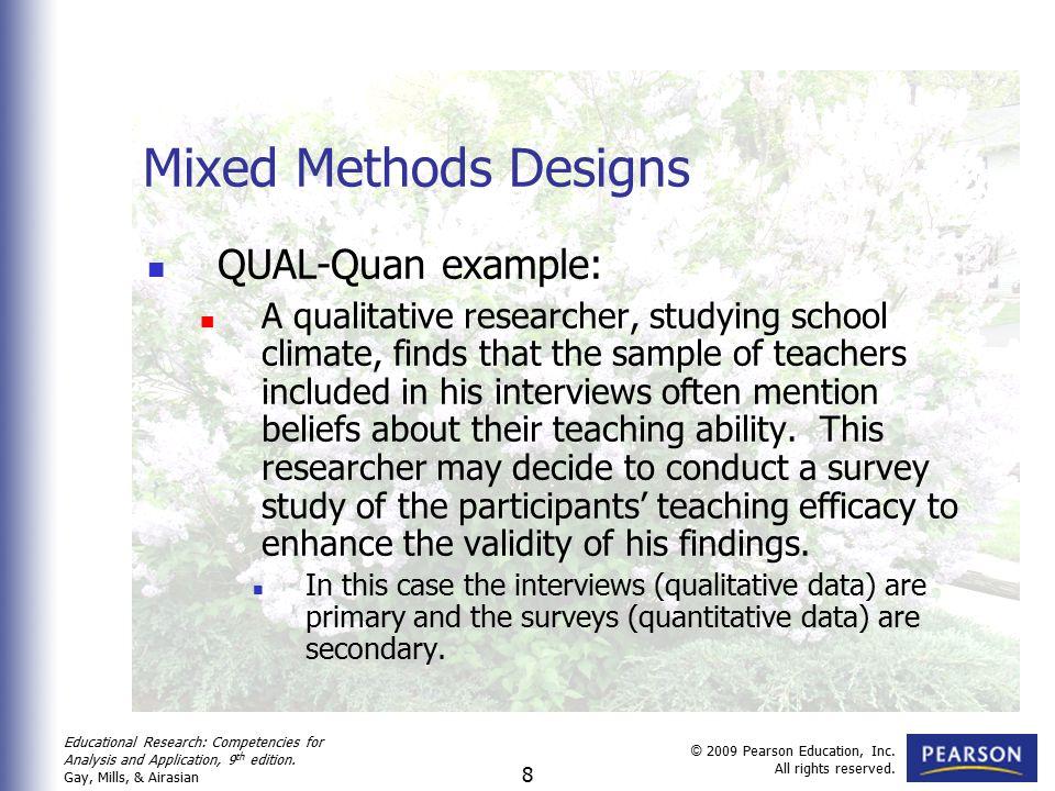 Quantitative qualitative research methods examples