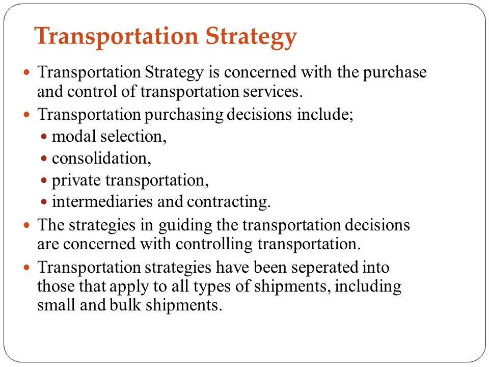 TRANSPORTATION MANAGEMENT - ppt video online download