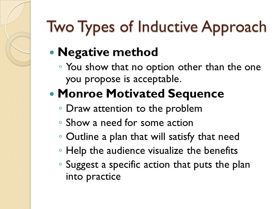 Two Types of Inductive Approach