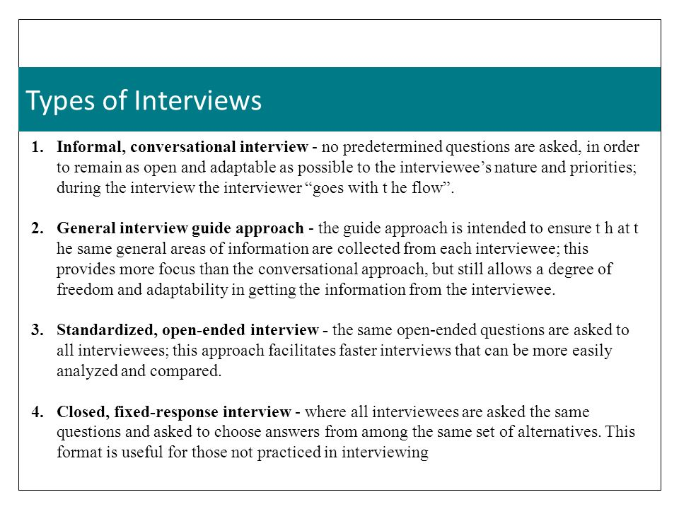 types of interview in research pdf