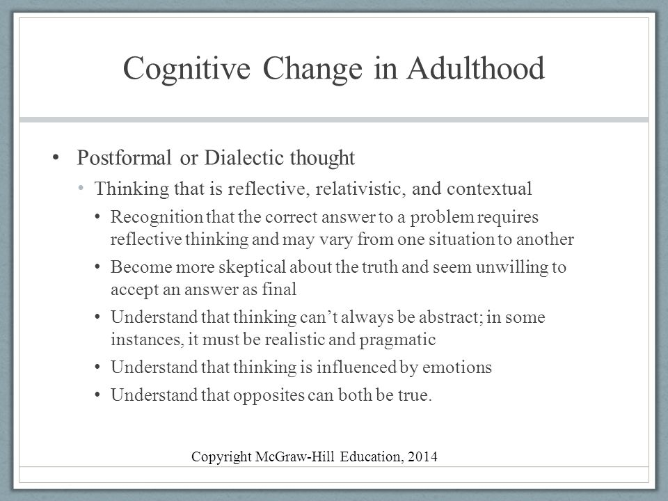Cognitive Change in Adulthood