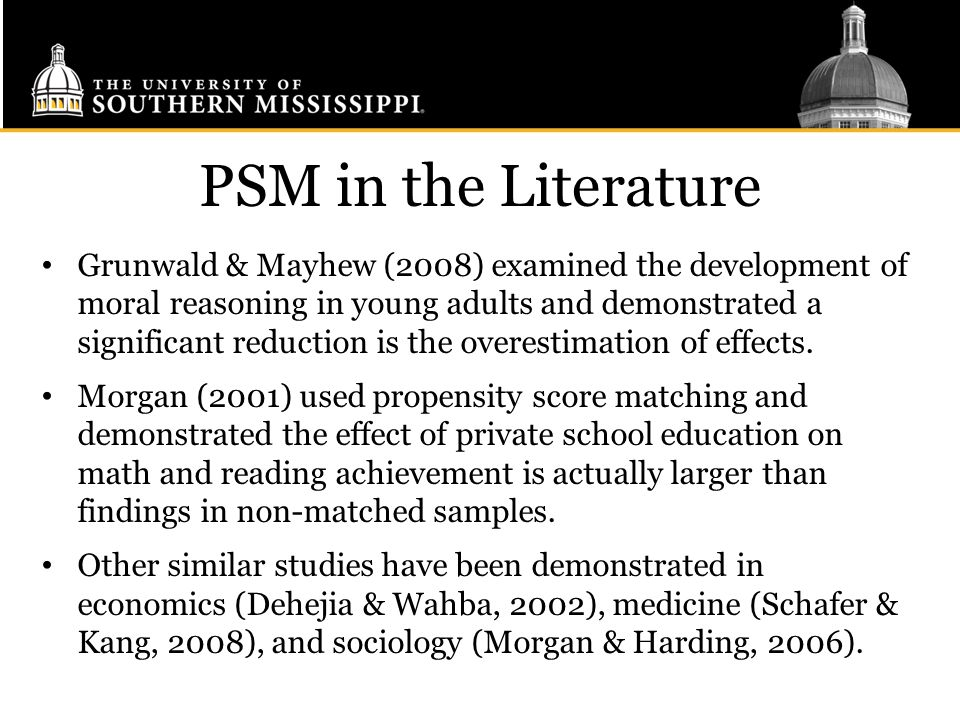 PSM in the Literature